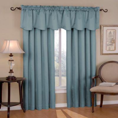 Insola Carmen Rod Pocket Blackout Window Valance in River Blue