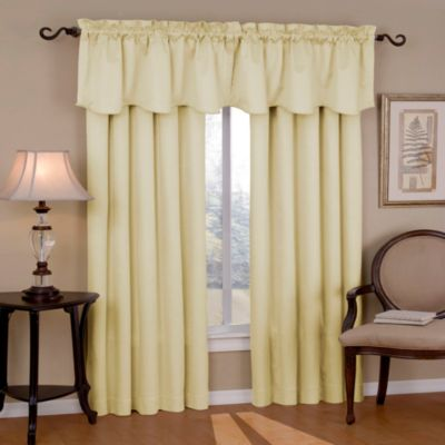 Insola Carmen Rod Pocket Blackout Window Valance In Ivory