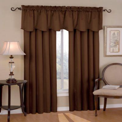 Insola Carmen 84-Inch Rod Pocket Blackout Window Curtain Panel in Chocolate
