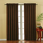 Insola Siena Suede Rod Pocket Blackout Window Curtain Panels