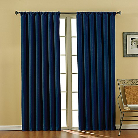 Buy Theodore 84 Inch Rod Pocket Blackout Window Curtain Panel In Indigo From Bed Bath Beyond