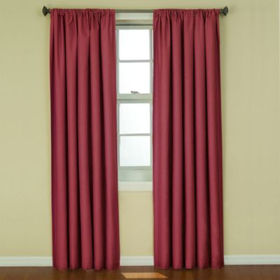 Insola Kate 63-Inch Rod Pocket Blackout Window Curtain Panel in Ruby