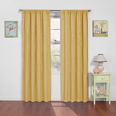 Nursery Day at the Zoo Rod Pocket Blackout Window Curtain Panels