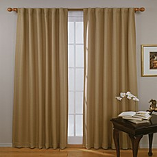Insola Ferris Rod Pocket/Back Tab Blackout Window Curtain Panels