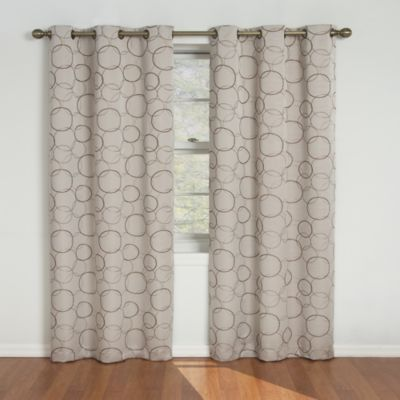 Insola Sphere 95-Inch Grommet Blackout Window Curtain Panels in Sage