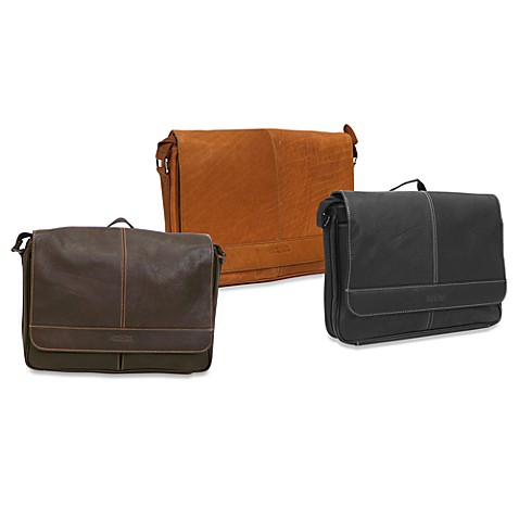 Kenneth Cole® REACTION Risky Business Leather Flap-Over Messenger Bags