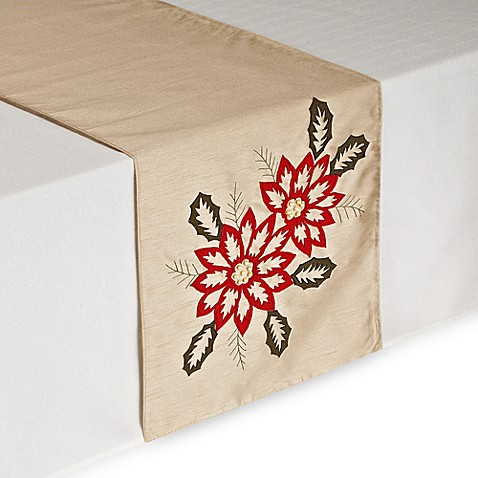 Christmas Flowers Table Runner