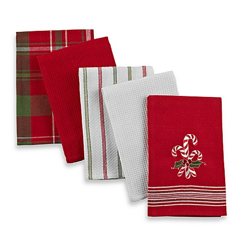 Candy Cane Kitchen Towel 5-pack