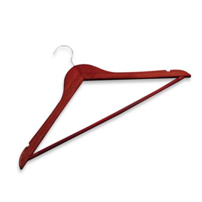 24-Pack Cherry Premium Suit Hangers with Ribbed Bar