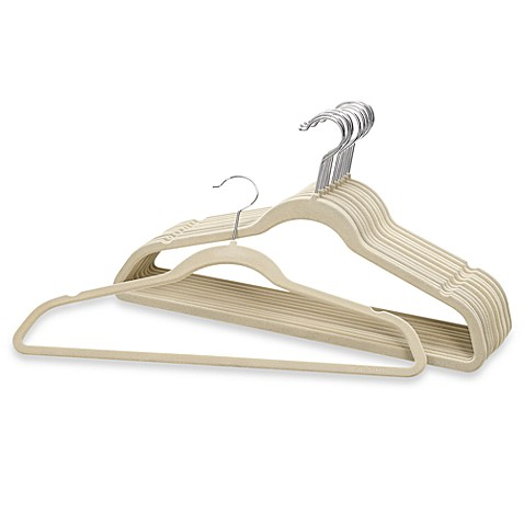 Real Simple®  Heavyweight Slimline Hangers in Stone (Set of 12)