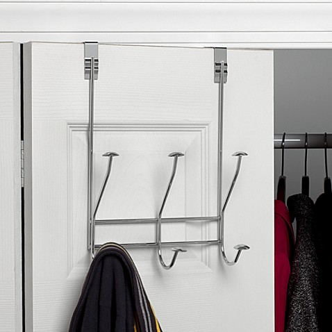 Windsor Over the Door Chrome 3-Hook Rack