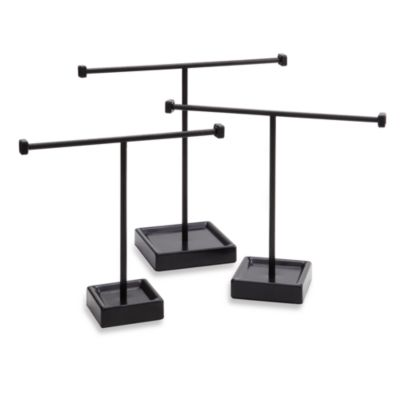 Bronze Jewelry Tree Stands (Set of 3)