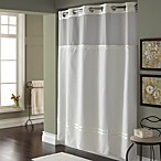 Hookless® Escape 71-Inch x 74-Inch Fabric Shower Curtain and Liner Set in White