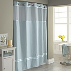 Hookless® Escape 71-Inch x 74-Inch Fabric Shower Curtain and Liner Set in Blue