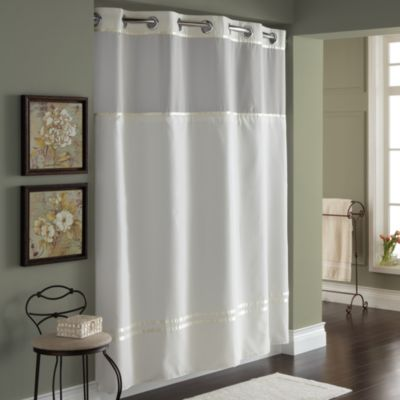 Hookless® Escape 71-Inch W x 74-Inch L Fabric Shower Curtain and Liner Set in Ivory