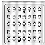 Kikkerland® Design Mustache Shower Curtain