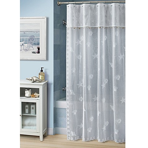 Croscill® Bayhead Lace 70-Inch W x 72-Inch L Fabric Shower Curtain