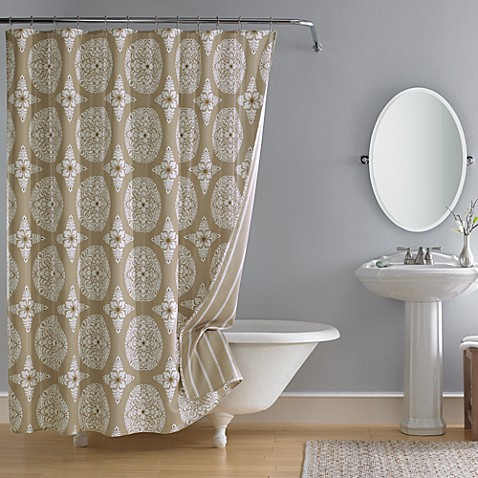 """Real Simple Insignia 72"""" x 72"""" Fabric Shower Curtain"""