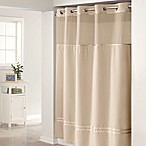 Hookless® Escape Taupe 71-Inch W x 74-Inch L Fabric Shower Curtain and Liner Set