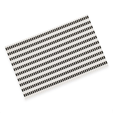 Perfect Food Black & White Striped Mat