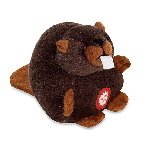 Pet Qwerks Small Plush Beaver with Electronic Sounds