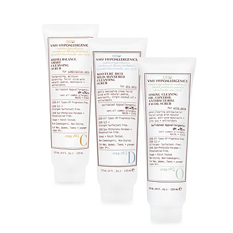 VMV Hypoallergenics Cleansing Scrubs (For Dry, Oily, and Combination Skin Types)