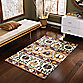 B. Smith Lola Handwoven Printed Cotton 1-Foot 8-Inch x 2-Foot Rug