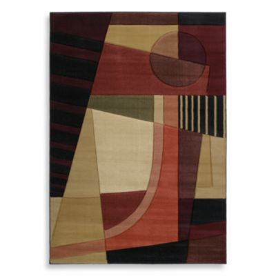 Urban Angles 2-Foot 7-Inch x 4-Foot 2-Inch Petite Accent Rug in Green