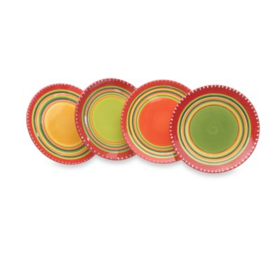 Hot Tamale 8.5-Inch Salad Plates in (Set of 4)