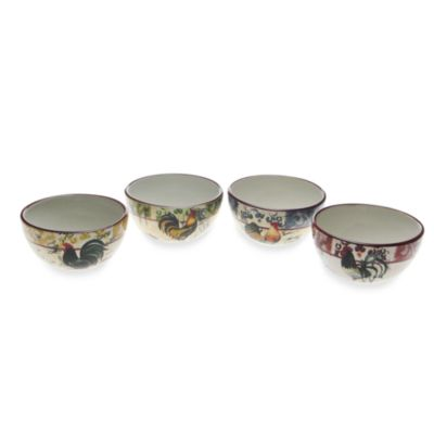 Certified International Lille Rooster 5 -Inch Bowls in (Set of 4)