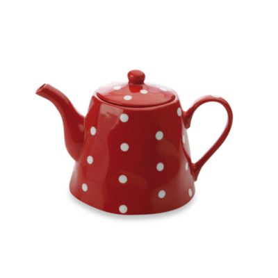 Maxwell & Williams™ Sprinkle Collection 1.2-Liter Teapot in Red