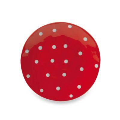 13 Red Round Platter