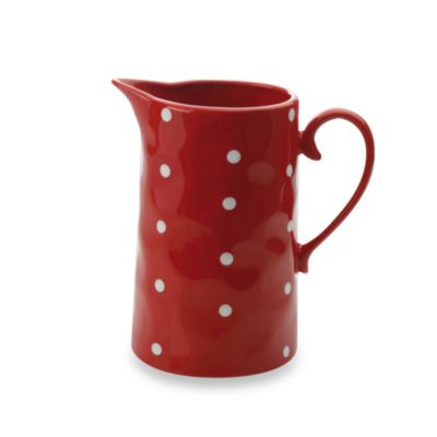 Red Sprinkle Pitcher