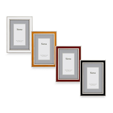 Siena Silver Plated Black Enamel Picture Frames