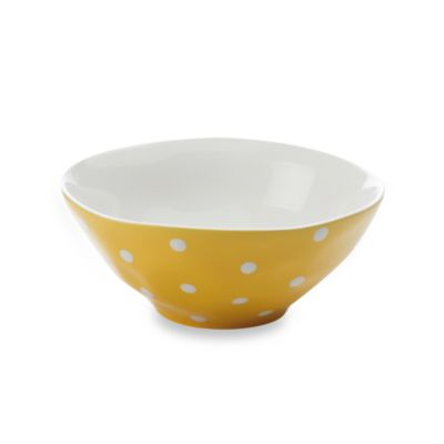 Maxwell & Williams ™ Sprinkle Collection Yellow 11-Inch Salad Bowl