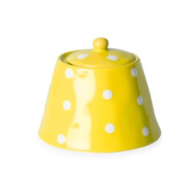Maxwell & Williams ™ Sprinkle Collection Yellow Sugar Bowl