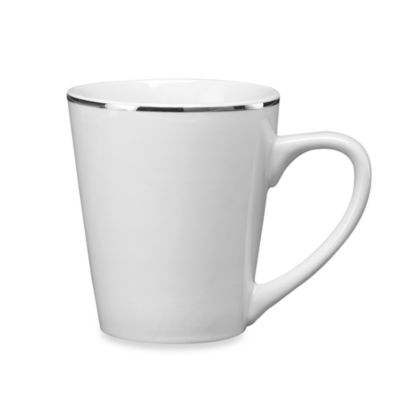 12-Pack Studio Platinum Banded Dinnerware 12-Ounce Mugs
