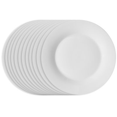 Studio White Dinnerware 10-1/2-Inch Dinner Plates (Set of 12)