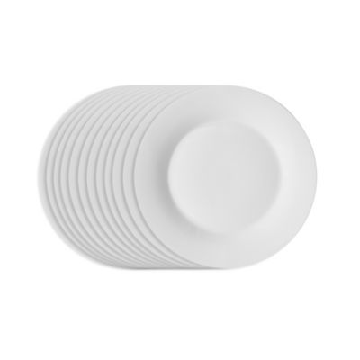 Studio White Dinnerware 7-1/2-Inch Salad Plates (Set of 12)