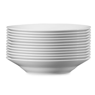 12-Pack Studio White Dinnerware 7-Inch Soup Bowls