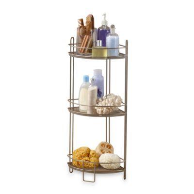 Satin Nickel Corner Shelf
