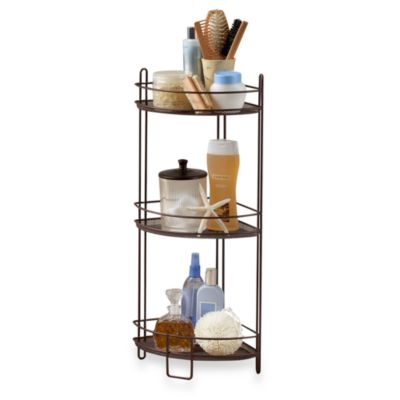 3-Tier Mesh Corner Shelf in Oil Rubbed Bronze