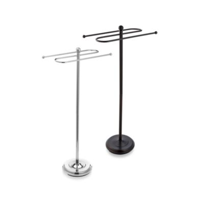 2-Tier Chrome Towel Stand