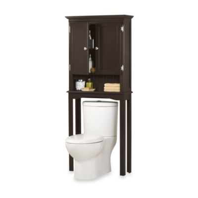 Fairmont Free Standing Space Saver Cabinet in Espresso