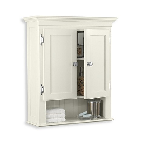 Buy fairmont wall mounted cabinet in ivory from bed bath amp beyond