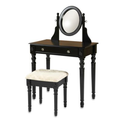 Laura Vanity Set in Black