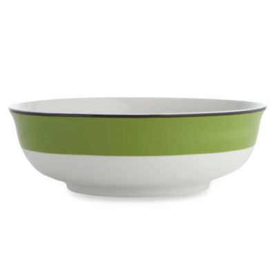 Green Black Serving Bowl