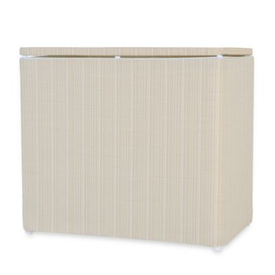 1530 Lamont Home Raine Bench Hamper in White/Ivory