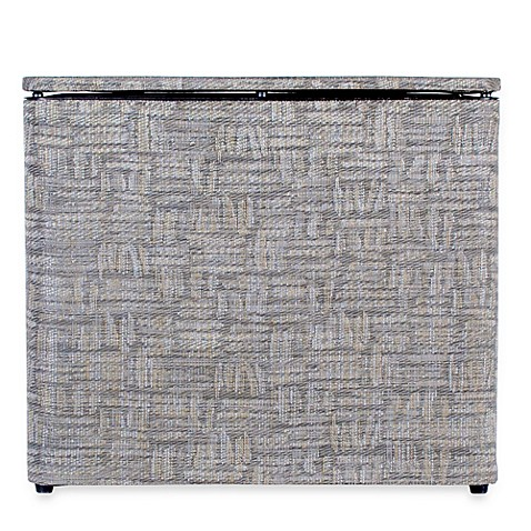 1530 Lamont Home Zoe Bench Hamper in Silver/Black