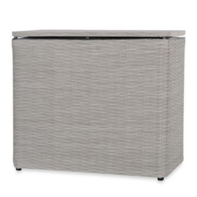 1530 Lamont Home Aiden Bench Hamper in Taupe